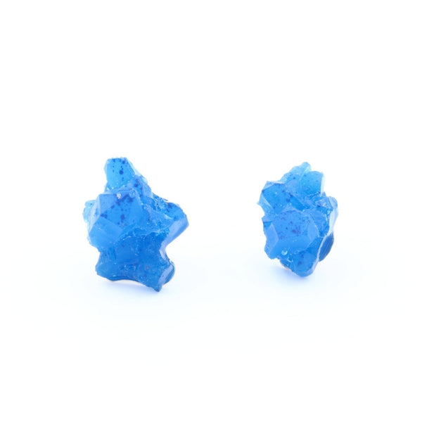 Blue earrings, geometrical, Izabella Petrut jewellery