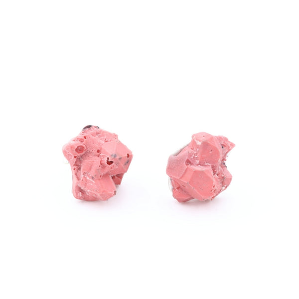 Beautiful one of a kind pink earrings with silver, by Izabella Petrut