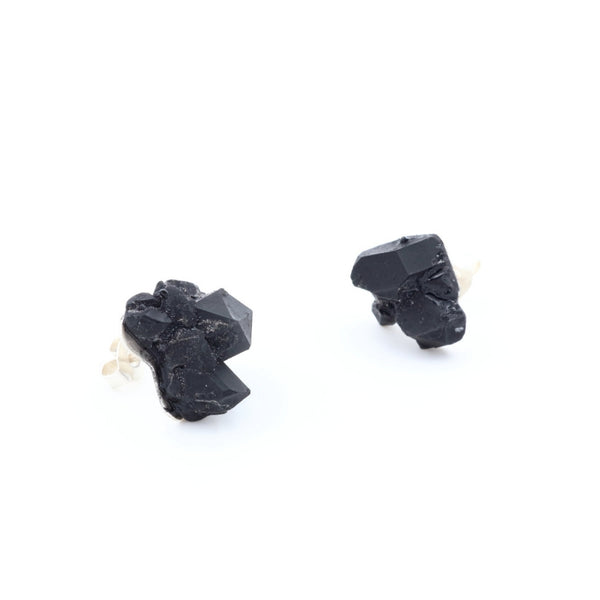 elegant black statement earrings by Izabella Petrut, buy online
