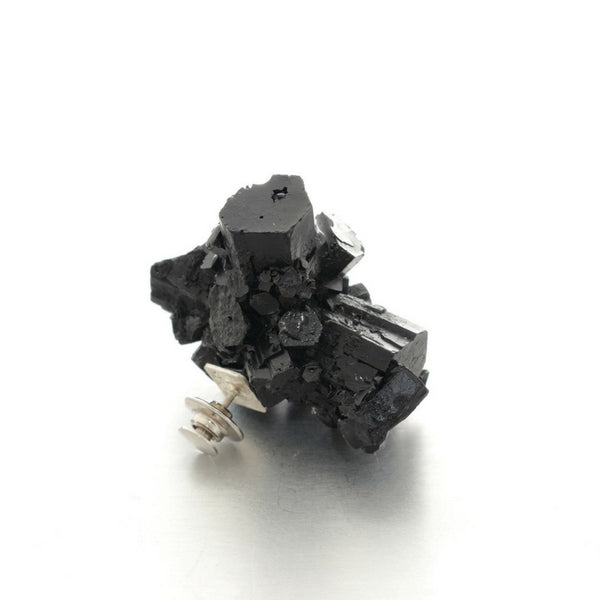 Statement one of a kind black brooch. Contemporary jewellery design, by Izabella Petrut, Austria
