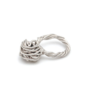 chunky silver ring, handmade. Gift inspiration for women. Handmade in Vienna