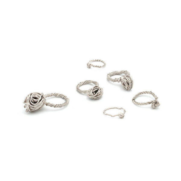 unique big silver rings, designer by Austria designer Izabella Petrut