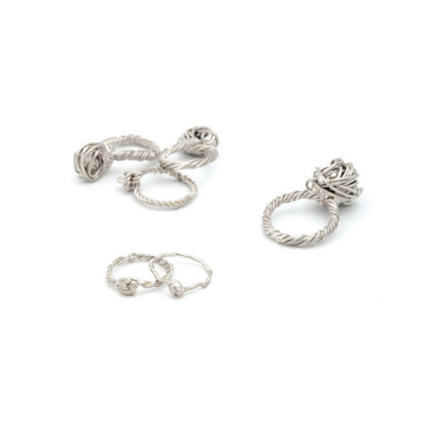 Beautiful sculptural silver rings made in Vienna. Free shipping