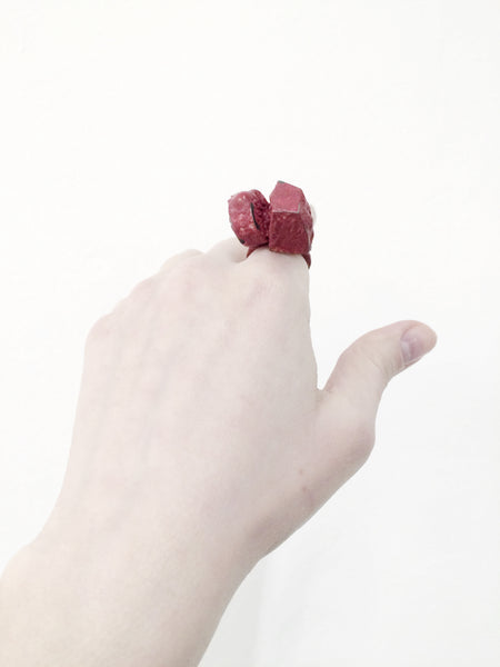 oxidised silver ring, contemporary jewellery Wien, by Izabella Petrut