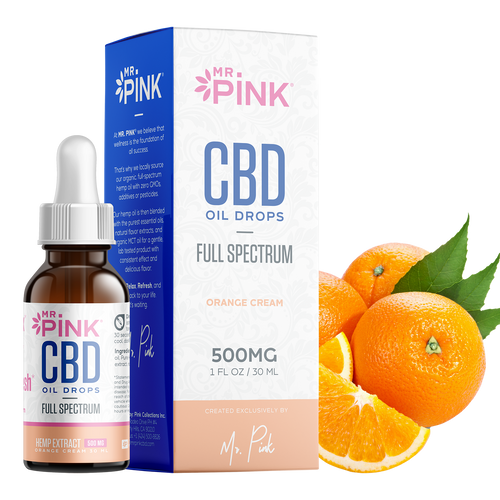 Orange Cream CBD Oil - 500mg
