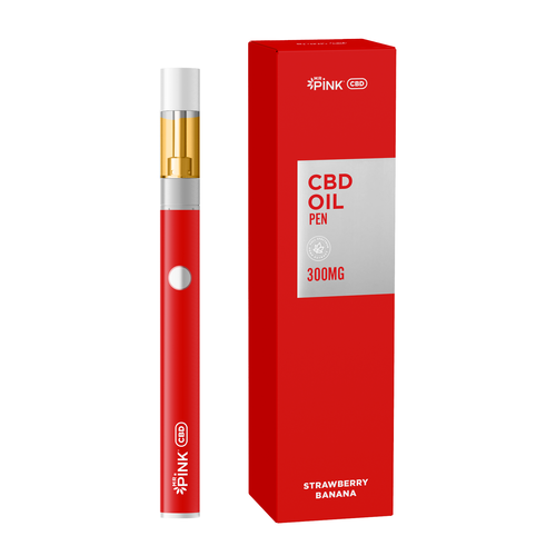 Mr. Pink CBD Vape Pen - Strawberry Banana Flavor - 300mg