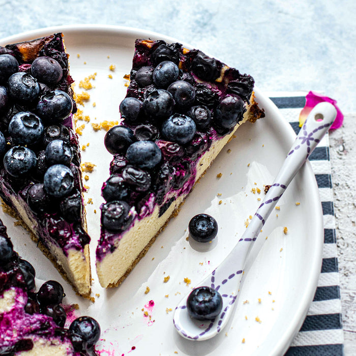 CBD Lemon Blueberry Cheesecake