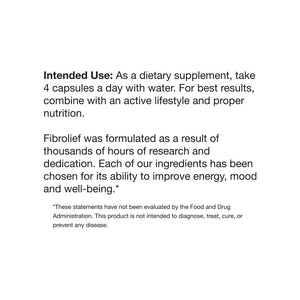 Fibrolief Fibromyalgia support supplement directions