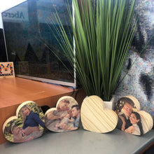Load image into Gallery viewer, Custom Wood Print - Hearts
