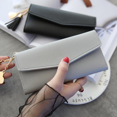 Brand Designer Leather Wallets For Women | Clutch Phone Wallet With Credit Card Holder And Long Tasse