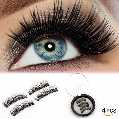 3D Magnetic Eyelashes | Magnet Soft hair Handmade Reusable Cilios Mink Eyelashes | Natural Eye Lash Extension (No Glue Needed!))