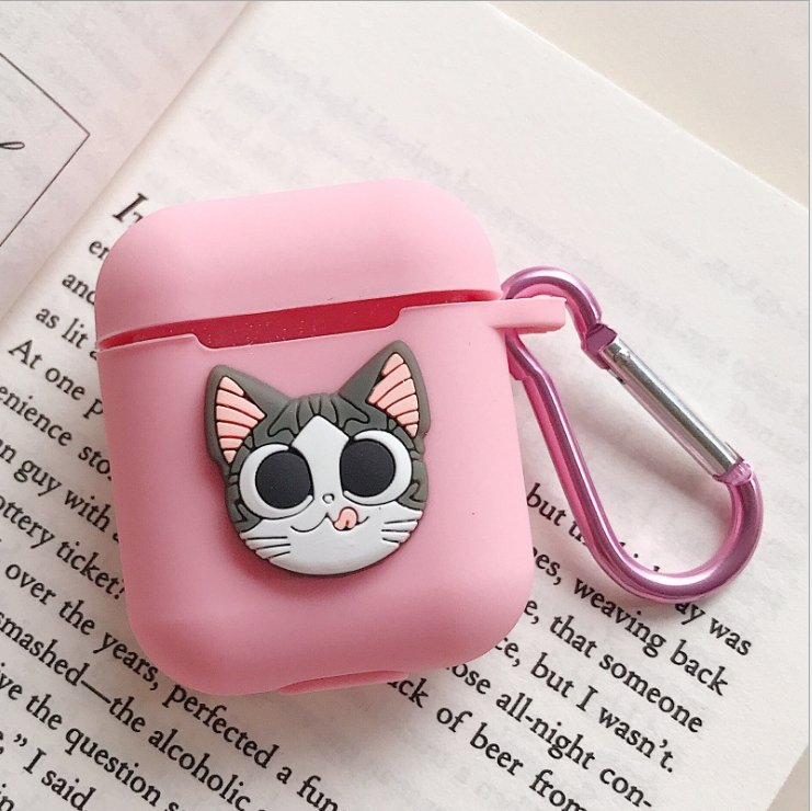 Cute Cartoon Animals Slicone Protective Cover Case  with Keychain| Airpods Case Cover - P&Rs House