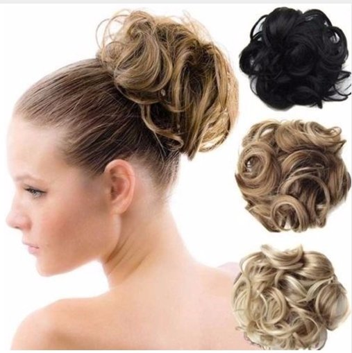 Messy Hair Bun | On The Go Style Bun | Messy Hair Ball Ring Set