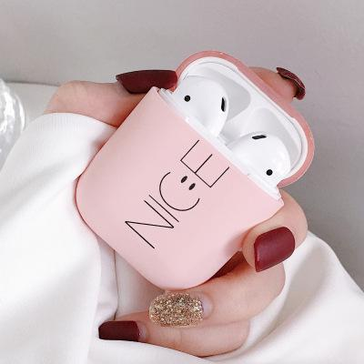 Cute Wireless Bluetooth Headset Box|Air Pod Protective Case| Cuter Airpod Cover (Black\Pink)