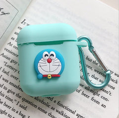 Cute Cartoon Animals Slicone Protective Cover Case  with Keychain| Airpods Case Cover