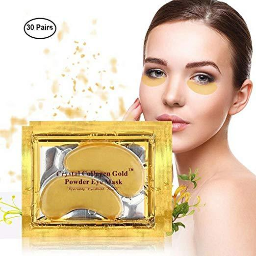 STANDOUT NATURAL  CARE 24K Gold Crystal Collagen Eye Patches For Dark Circles  Anti-Aging Wrinkle Skin Care - P&Rs House