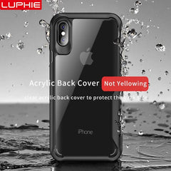 Shockproof Armor Case For iPhone XS XR 8 7 Plus | Transparent Case Cover For iPhone 6 6S Plus 5 XS Max