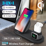3 in 1 Wireless Charger | 10W Qi Wireless Charger Dock Station| Fast Charging for Apple Watch 1 thru 4 For iPhone XR XS Max and Samsung S9 For AirPods - P&Rs House