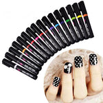 OOH WOW 1PC Beauty 16 Colors Two-way Acrylic Paint Pen DIY Gel Polish Drawing Tools Nails Accessoires Manicure 3D Nail Art Pen - P&Rs House