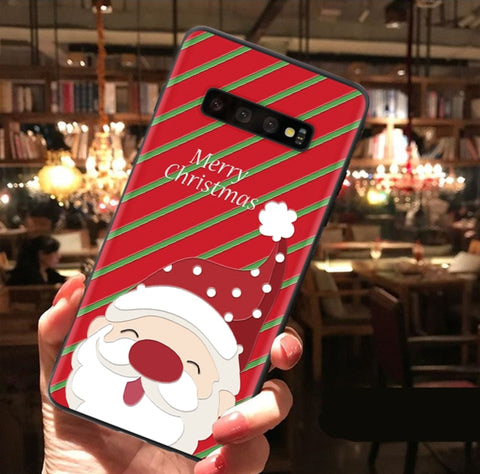 3D Christmas  Phone Case For Samsung Galaxy  A50 S8 S9 S10 J4 J6 Plus S7 Edge A30 A50 A40 A70 A7 A8 A9 2018 M10 M20 Note 8 9 Case