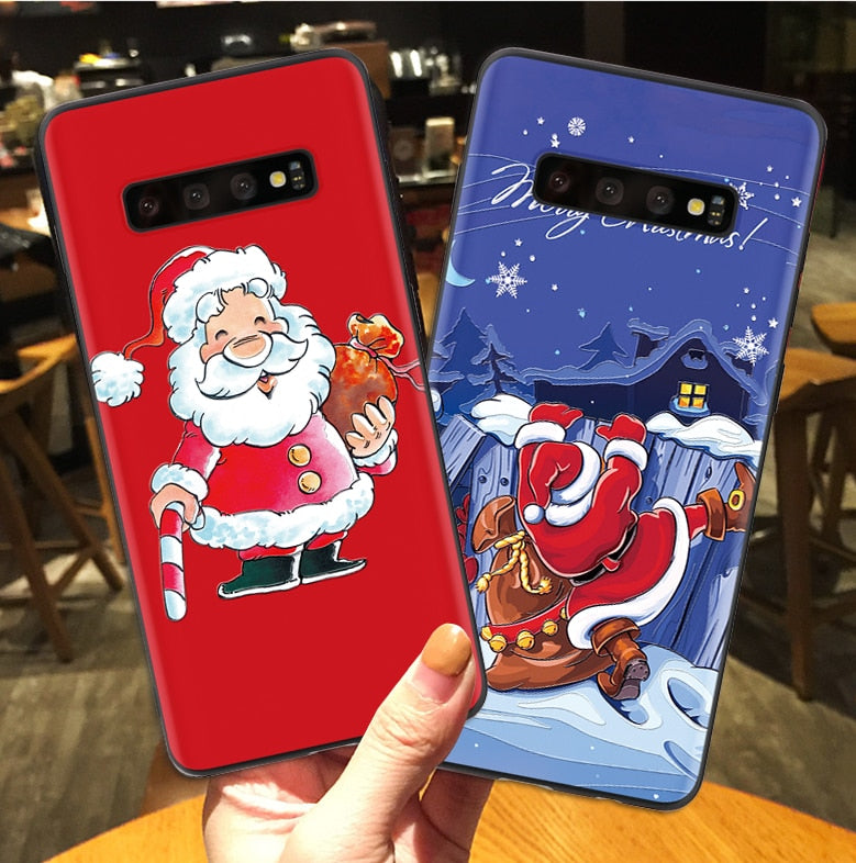 3D Christmas  Phone Case For Samsung Galaxy  A50 S8 S9 S10 J4 J6 Plus S7 Edge A30 A50 A40 A70 A7 A8 A9 2018 M10 M20 Note 8 9 Case - P&Rs House