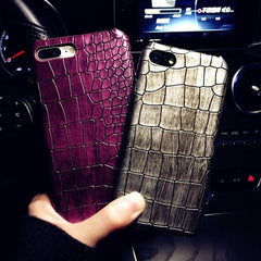 3D Crocodile Skin Phone Case For iPhone 8 X S XS 7Plus