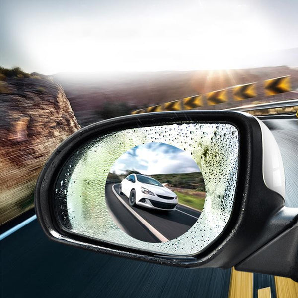 2pcs Anti Fog Car Mirror Window Clear Film Anti-Light Car Rearview Mirror Protector Film Waterproof Rainproof Car Sticker