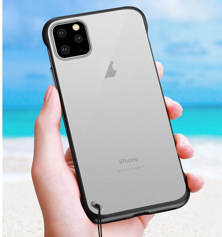 Ultra Thin Hard Matte Translucent Clear Case For iPhone11iphone12