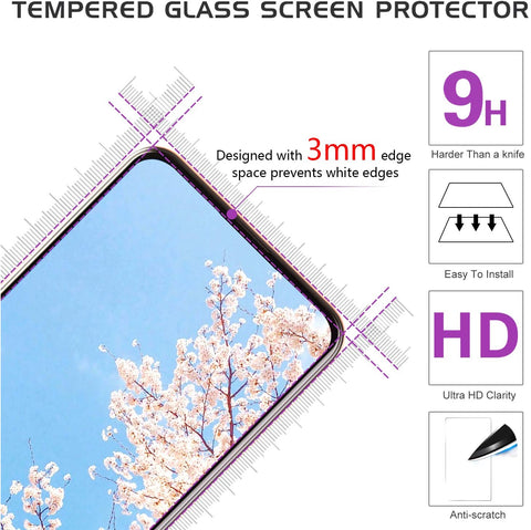 LeYi AMZ Compatible for iPhone 8 Case, iPhone 7 Case, iPhone 6s/ 6 Case with Tempered Glass Screen Protector [2 Pack], Military-Grade Protective Phone Case with Ring Kickstand for iPhone 6/6s/7/8, Purple
