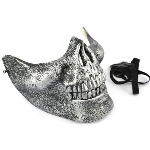Minch Scary Skull Skeleton Mask Halloween Costume Half Face Masks