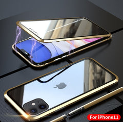 Magnetic Phone Case for iPhone 11| Magnetic Adsorption Case Front and Back Tempered Glass For IPhone 11