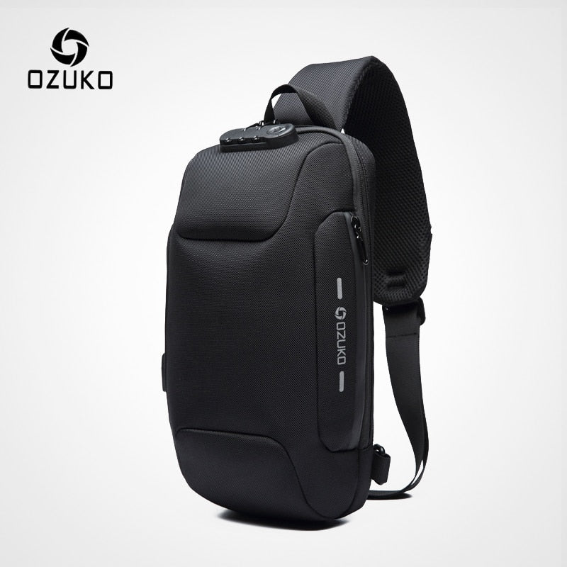 OZUKO Multifunction Crossbody Bag for Men Anti-theft Shoulder Messenger Bags Male Waterproof Short Trip Chest Bag Pack - P&Rs House