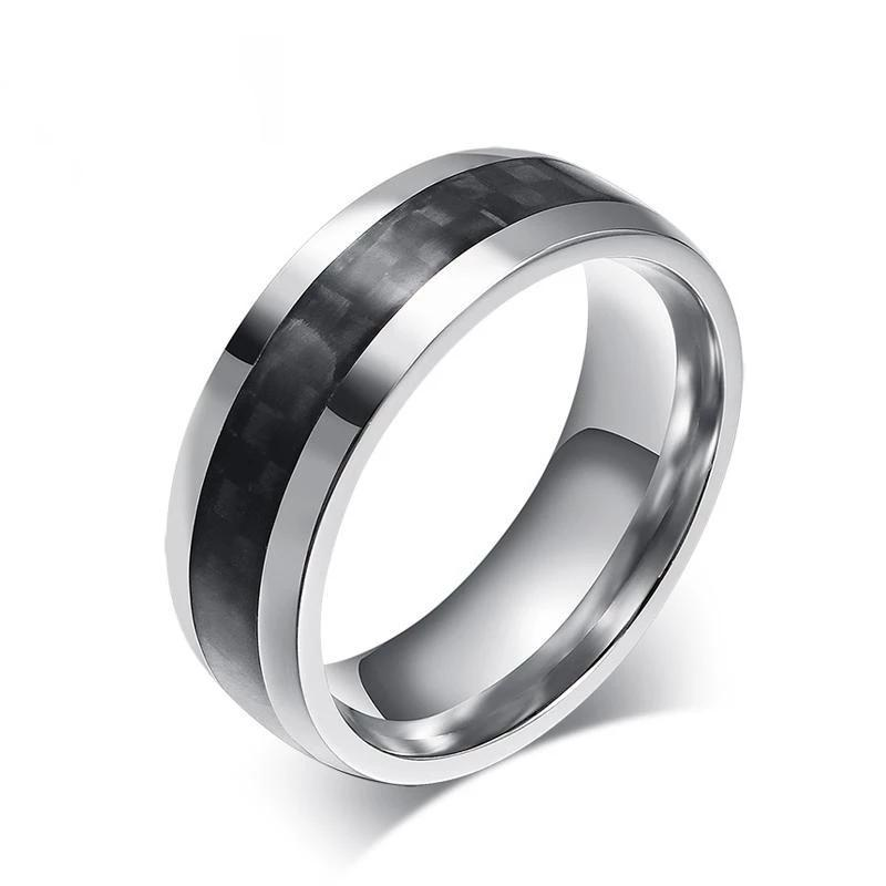 Vnox men ring carbon fiber jewelry - P&Rs House