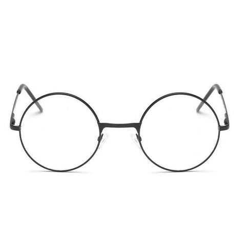 Round Metal Frame Glasses With Clear Lens