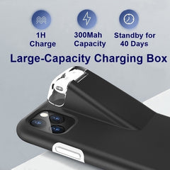 NEW 2 In 1 Phone Case With 300Mah Charging Box Earphone Storage Box For Apple AirPods 2 1  For iPhone 11 Pro Max  Xs Max XR X 8 7 6 6S Plus
