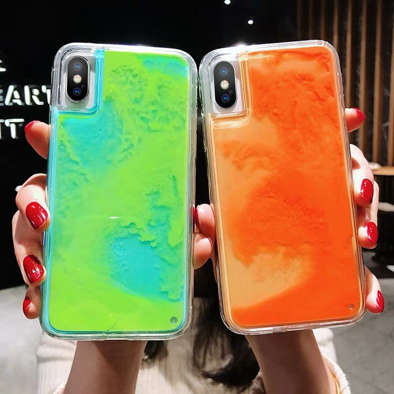 New Fashion Noctilucent Dynamic Liquid Quicksand For iPhone 6 6S 7 8 Plus X XR XS Max Phone Cases Trend Luminous Case - P&Rs House