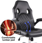 USA stock Office Chair Desk Leather Gaming Chair, High Back Ergonomic Adjustable Racing Chair