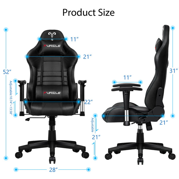 Office Chair Ergonomic Game Computer Chair with Body-hugging Leather Boss Chair Game Armchair Office Chair white for WCG