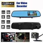 Car DVR Camera Dual Lens Rear Video Rearview Mirror Full HD 1080P Driving Recorder Night Vision Cycle Recording Sprint Camera