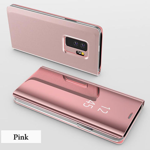 Luxury Smart Mirror Flip Phone Case For Samsung Galaxy S6-S9 S10E S10 S9 S8 Plus Note 8 Note 9 Cover