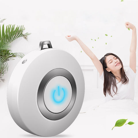 Wearable Air Purifier Necklace Mini Portable USB Air Cleaner Negative Ion Generator Low Noise Air Freshener
