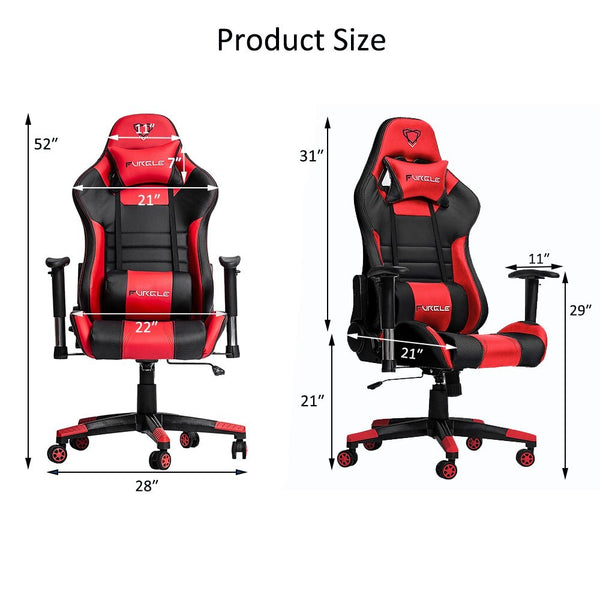 Office Chair Swivel Gmae Chair High Back Racing Gaming Chair Ergonomic Computer Desk Recliner PU Leather Seat Fast Free Shipping