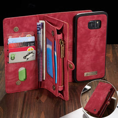 Luxury Leather Phone Wallet with Card Holders For Samsung Galaxy S7 Edge S8 S9 S10 Plus S10E note 8 9 10 Pro with Detachable Leather Magnet Case