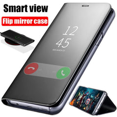 Smart Mirror Flip Phone Case For Galaxy a20 a50 etc| Clear View Flip Phone Case for Most Galaxy Phones