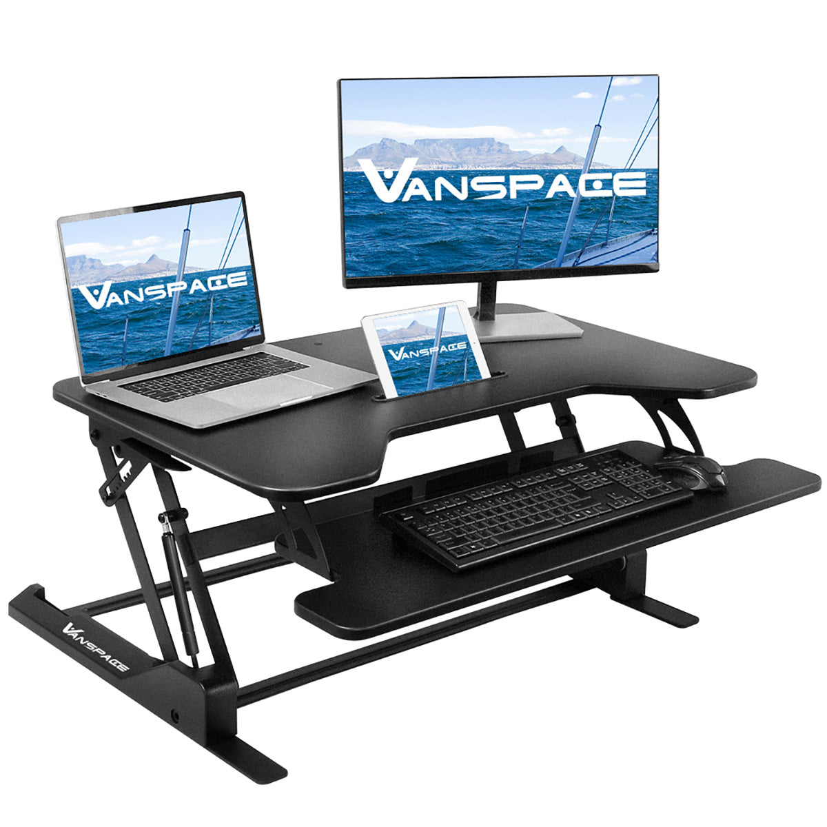 VANSPACE Height Adjustable Standing Desk Gas Spring Laptop Desk 36