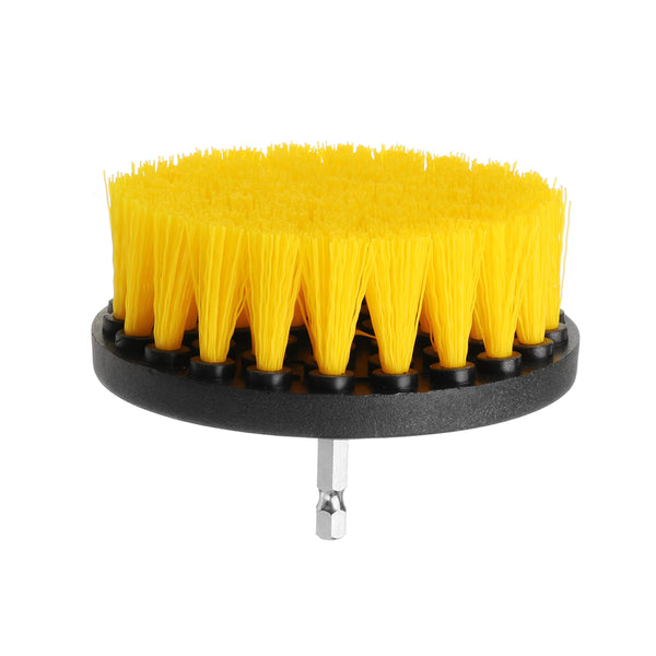 Drillpro 3Pcs 2/3.5/4 Inch Yellow Electric Drill Brush Tile Grout Power Scrubber Tub Cleaning Brush|Cleaning Supplies