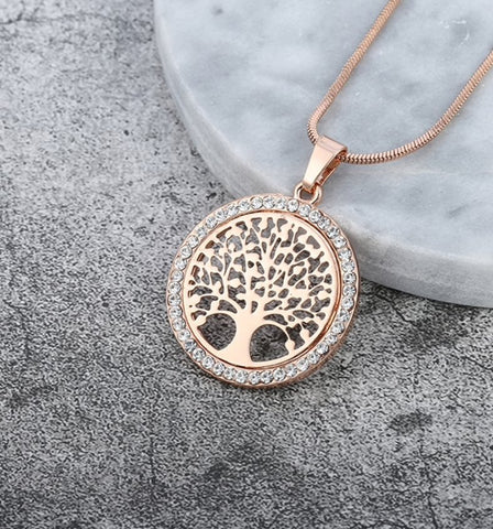 Crystal Tree Necklace