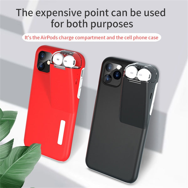 New Silicone 5.8 Inch Phone Case Cover For iPhone 11 Pro Wireless Bluetooth Earphone Charger For AirPods 2/1 Cases With Charger