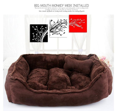 New Pet Products Cotton Pet Dog Bed for Cats Dogs Small Animals Bed House Pet Beds Cushion High Quality Fall Winter Kennel Dog Bed