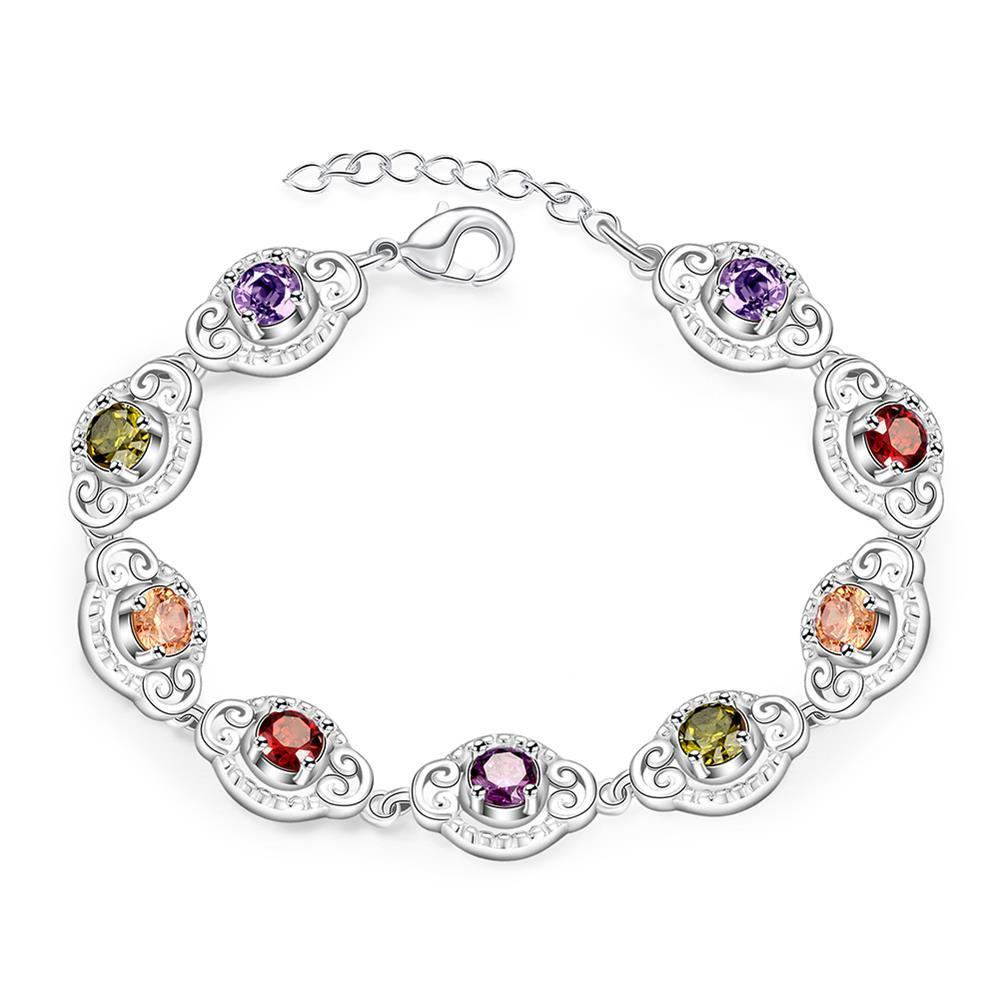 Swarovski Crystal Mona Lisa Bracelet in 18K White Gold Plated - P&Rs House